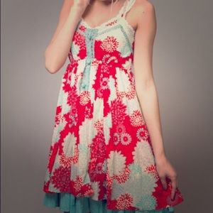 Anthro- A'Reve Floral Dress